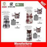 Fleece with Bone Print Dog Clothes Pet Coat (YJ83666)