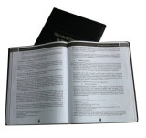 High Quality Black PU Leather Cover Book (YY-B0308)