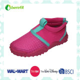 Fuchsia Upper Design, TPR Sole, Aqua Shoes