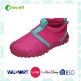 Fuchsia Upper Design, TPR Sole, Aqua Shoes