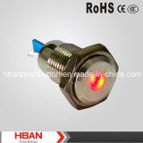 CE RoHS 12mm Metal Indicator Lamp