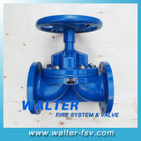 Cast Iron Rubber Lined Weir Diaphgram Valve