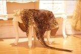 Genuine Kangaroo Skin Rug with Leopard Print