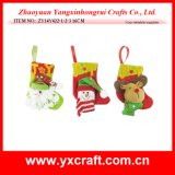 Christmas Decoration (ZY14Y422-1-2-3) Christmas Sock Promotion