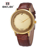 Belbi Quartz Causual Mens Altra Thin Leather Strap Wrist Watch in Fashion Hot Selling