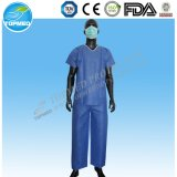 Disposable SMS Patient Pyjamas, Nonwoven Patient Suit