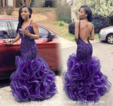 Sexy Party Ball Gowns Organza Colorful Mermaid Prom Dresses P17918