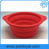 Factory Large Silicone Collapsible Pet Product Supply Dog Feeder Bowl
