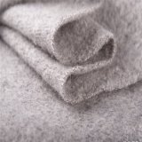 Mohair and Wool Mixed Wool Fabrics with Soft Hand in Gray