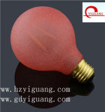 Red Frosted G80 E27 3.5W LED Filament Bulb