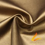 Elastic Polyester Base PU Coating Leather Fabric for Leather Pants Jacket (FZ-1-VEN-LS)