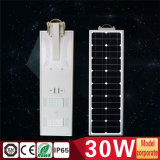 30W Solar Outdoor Street Light All in One with PIR Sensor
