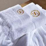 Hotel Satin Border 100% Cotton Terry Cloth Towel Supplier (DPF201642)