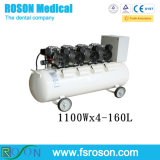 1100wx4-160L Industrial-Grade Silent Oilless Dental Air Compressor on Sale