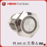19mm Stainless Steel Orange Plated Push Button Switch