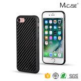 Flexible Price Untransparent Carbon Fiber PC TPU Case for iPhone 7 Custom Hard Case