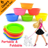 Colored Food Grade Silicone Collapsible Dog Bowl
