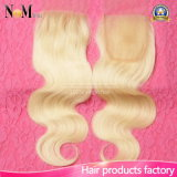 100% Brazilian Blonde Lace Color High Quality Human Hair 613 Virgin Hair Closure