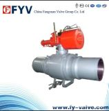 API 6D Long Connection Full Welded Ball Valve with Pneumatic