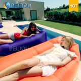 Free-Customized Beach Sun Lounger Inflatable Hammock Air Sofa Bed