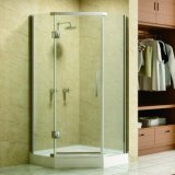 Chrome Aluminum Profiles Frameless Shower with ABS Round Handle