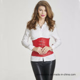 Women′s Leather Zipper Bustier Overbust Corset for Wholesale