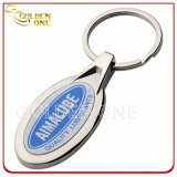 Promotion Cheap Metal Key Ring with Epoxy Domed Logo