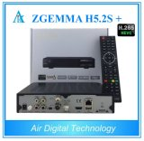 Original Zgemma H5.2s Plus Multistream H. 265 Hevc Satellite Receiver with DVB-S2 + DVB-S2X +DVB-T2/C Three Tuners