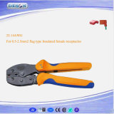European Style Ratchet Crimping Plier for Flag Type Insulated Female Receptacles