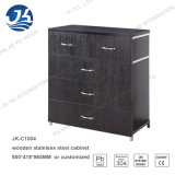 Black MDF Fashion File Drawer Cabinet with Stainless Steel Handle