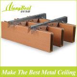 25X100mm Wood Color Aluminum Box Baffle Ceiling