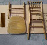 Popular Wedding Banquet Furniture Gold PP Resin Chiavari Chair with Metal Core