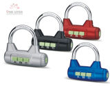 High Quality Aluminum Combination Padlock with 3 Wheels