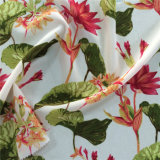 Silk Cdc Print in Flower Pattern