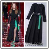 European Style Women Colorblock Long Prom Evening Dress