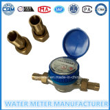 "Brass Single Jet Dry Dial Type Water Meter of ""1/2""-""3/4"""