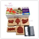 5 Pack EVA Plastic Self-Inking Stamps Toy for Kids