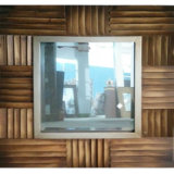 Rectangle Wooden Wall Hanging Mirror Frame (LH-M170513)