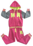Fashion Fleece Girl Children Clothes in Sport Wear Suit for Kids Apparel Swg-152
