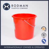 Nestable Round Red 18L a HDPE Plastic Water Bucket for Beach