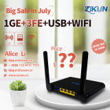 OEM Best Price WiFi+1ge+3fe Gpon ONU Router Zc-500W Same as Zte F600W 4LAN+WiFi