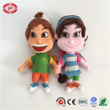 School Children Happy Embroidered Feature with Schoolbag Cute Plush Doll
