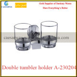 Sanitary Ware Bathroom Accessories Stainless Steel Double Tumbler Holder