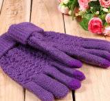Wholesale Knitted Acrylic Warm Jacquard Gloves/Mittens