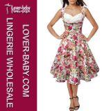 Woman Retro Summer Sexy Fashion Dresses (L36105-1)