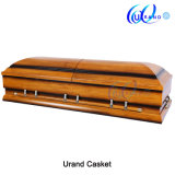 Two Tone Oversize Low Price American Wood Casket