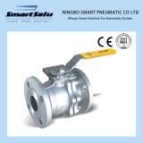 Manual Operated Flanged End High Mounting Pad Ss Ball Valve