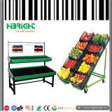 Supermarket Steel Fresh Fruit Display Rack