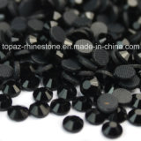 Jet Black Heat Press Transfer Crystal Stone Flat Back Rhinestone