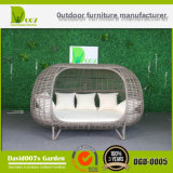 PE Rattan Outdoor Patio Furniture Double-Bed Wicker Sunbed Daybed Hotel Project
